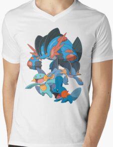 mudkip's family Mens V-Neck T-Shirt