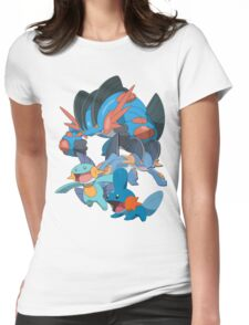 mudkip's family Womens Fitted T-Shirt
