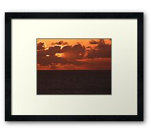 Another Sunrise at Sea Framed Print