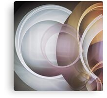 Playing with Circles, fractal abstract Canvas Print