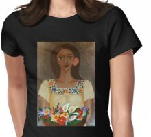 More than flowers she sells illusions Womens Fitted T-Shirt