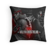 Will You Cross the Line Throw Pillow