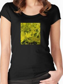 Neon Macro Succulent  Women's Fitted Scoop T-Shirt