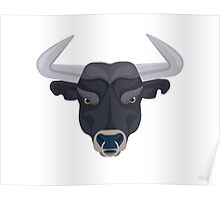 Graphic angry bull Poster