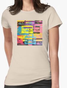 Rainbow Mixed Tape  Womens Fitted T-Shirt