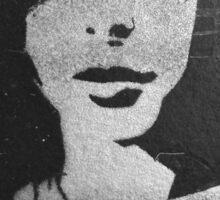 Shady Lady B&W Sticker