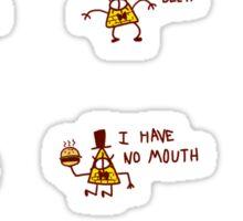 tiny triangle man Sticker