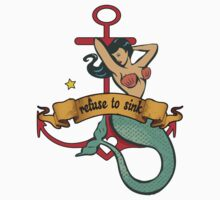 refuse to sink mermaid Kids Clothes