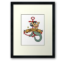 refuse to sink mermaid Framed Print