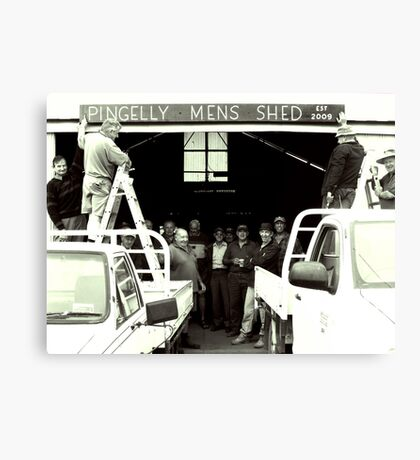 Pingelly Mens Shed, est 2009 Canvas Print