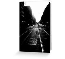 Flinders St Tram Tracks Greeting Card