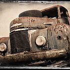Polaroid neg stripping - Old Truck by Malcolm Heberle