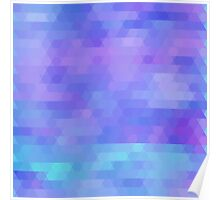 Athena, abstract geometric design in purples, aquas Poster
