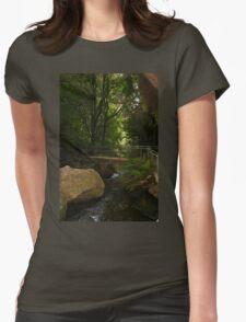 Leura Cascade Crossing Bridge Womens Fitted T-Shirt