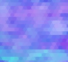 Athena, abstract geometric design in purples, aquas by Glimmersmith