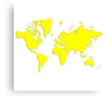 World With No Borders - true yellow Canvas Print