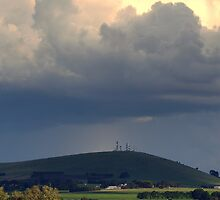 Stormy sky over mount by Julie Sleeman