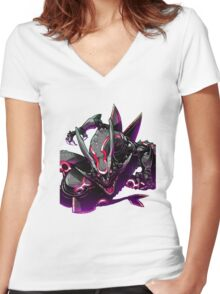 rayquaza case Women's Fitted V-Neck T-Shirt