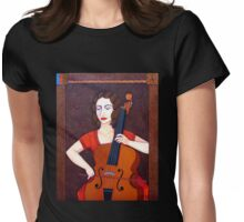 Guilhermina Suggia  - Woman cellist of fire Womens Fitted T-Shirt