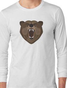 Graphic wild bear Long Sleeve T-Shirt