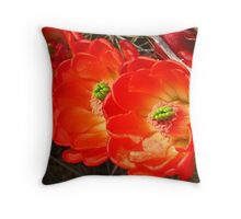 Hedgehog Blooms Throw Pillow
