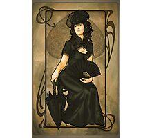 Poker Art Nouveau: 'Queen of Spades' Photographic Print