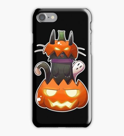 Jack O' Lantern Cat iPhone Case/Skin