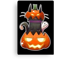 Jack O' Lantern Cat Canvas Print