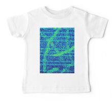 Abstract Blue Baby Tee