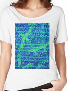 Abstract Blue Women's Relaxed Fit T-Shirt