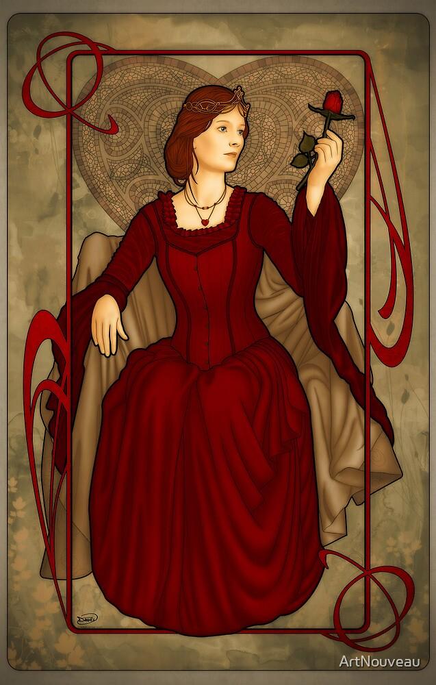 Queen of Hearts by ArtNouveau