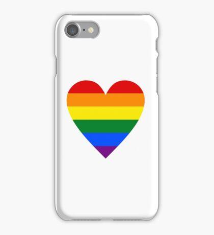 LOVE WINS  (Pride Heart) iPhone Case/Skin