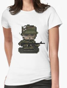 Pixel 'Nam - Soldier Womens Fitted T-Shirt