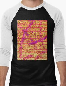 Abstract Orange Men's Baseball ¾ T-Shirt
