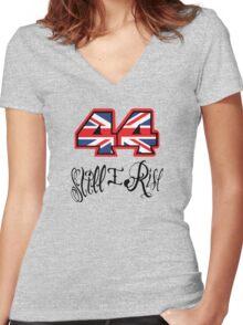 Lewis Hamilton Helmet Women's Fitted V-Neck T-Shirt