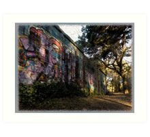 The Painted Wall Art Print