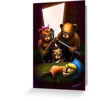 Goldilocks and the Three Bears Greeting Card