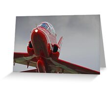 Red 10 Departs From Farnborough  Greeting Card