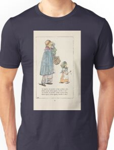Mother Goose or the Old Nursery Rhymes by Kate Greenaway 1881 0018 To the Market to Buy a Plum Cake Unisex T-Shirt