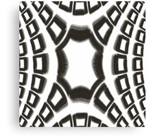 Black and White Fractal Design Canvas Print