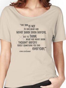 Inspiration from Schrödinger Women's Relaxed Fit T-Shirt