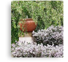 POTTED IN THE GARDEN Canvas Print