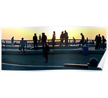 Los Angeles: Sunset Skaters at Venice Beach Poster