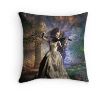 Music in the Clouds Throw Pillow