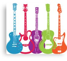 Retro Punk Guitars Canvas Print