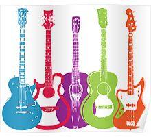 Retro Punk Guitars Poster