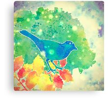 The Blue Bird of Happiness Canvas Print