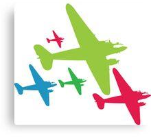 Vintage Airplanes Canvas Print