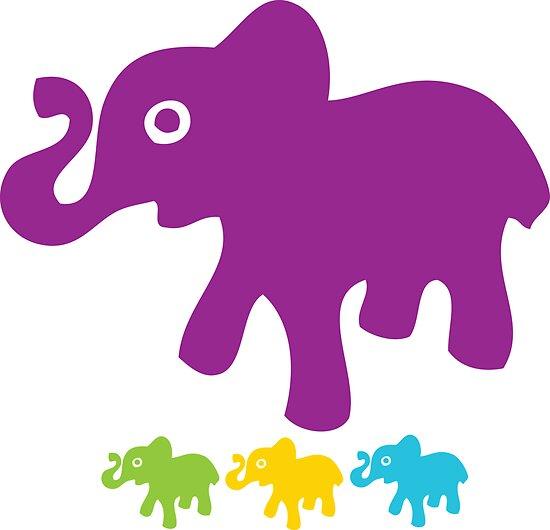 Retro Elephant Print by planespotting