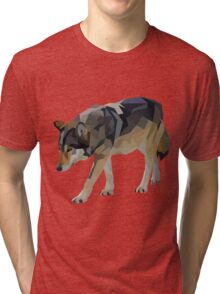 Crystalline Timber Wolf Tri-blend T-Shirt